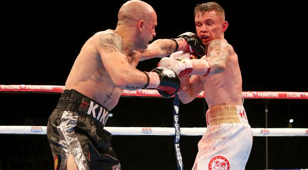 Big blow: Kiko Martinez lost his IBF World crown against Carl Frampton in Belfast in 2014