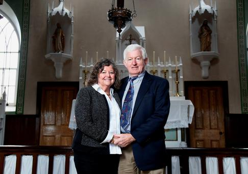 Laurence and Cecelia McCann, a Northern Ireland couple who returned from the US to enjoy a special 50th anniversary at the church where they wed. Pic Darren Kidd/PressEye