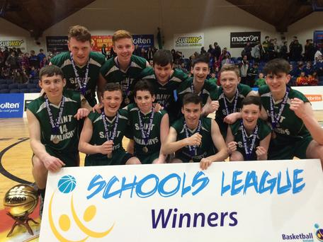 Champions: St Malachy's celebrate title success yesterday