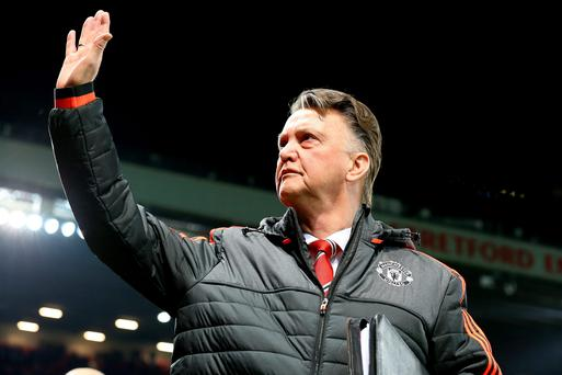 Manchester United manager Louis van Gaal during the UEFA Europa League match at Old Trafford, Manchester. PRESS ASSOCIATION Photo. Picture date: Thursday February 25, 2016. See PA story SOCCER Man Utd. Photo credit should read: Martin Rickett/PA Wire.