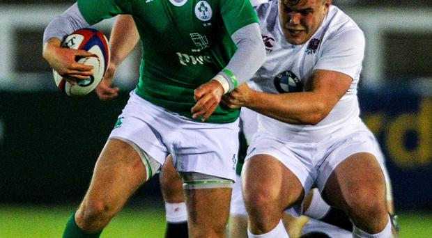 Pass master: Ireland's Johnny McPhillips goes through