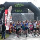 Press Eye - Born2Run Belfast Telegraph Run Forest Run Race Series - Castlewellan Forest - 27th Feb 2016 Photograph By Declan Roughan Jonny	Steede	Ballymena takes the runners off at the start of the Castlewellan race.