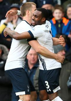 Right on cue: Danny Rose scored the winner for Spurs