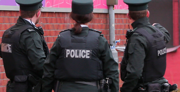Police carried out searches in Portadown.