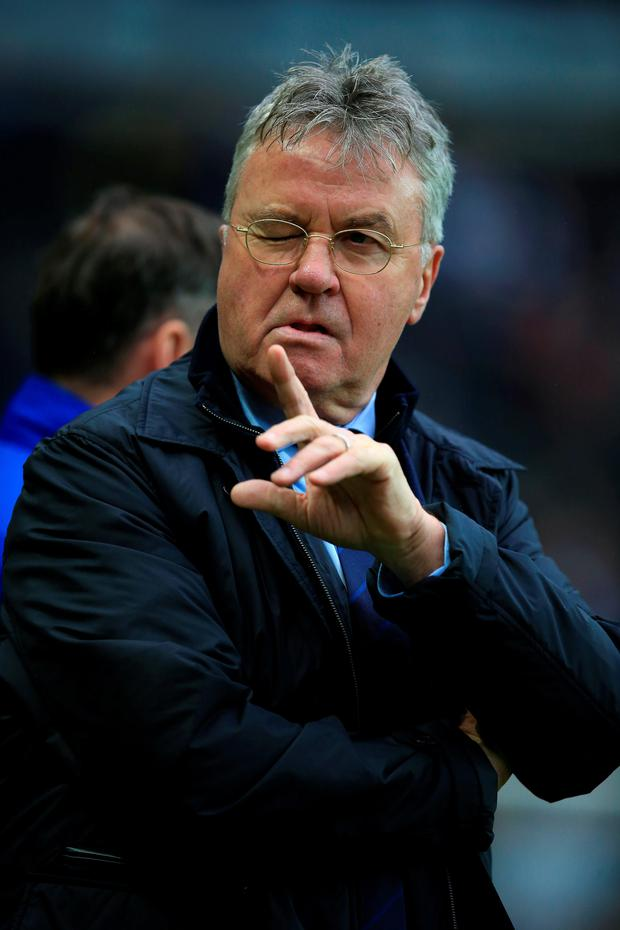 Confident: Guus Hiddink is happy with Chelsea players