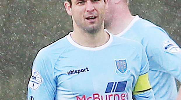 Stunned: Ballymena United skipper Jim Ervin and his team-mates are digesting the news Glenn Ferguson has been sacked