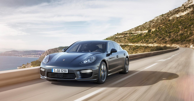 Porsche Panamera: Fire the engine up and theres a throaty rumble but noise never reaches intrusive levels