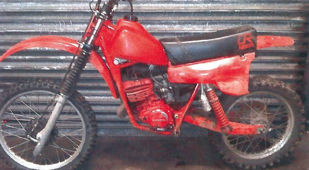 Police have released a picture of the scrambler which was left behind.
