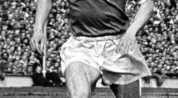 Wembley way: Dennis Viollet playing for Manchester United against Bolton Wanderers in the 1958 FA Cup final