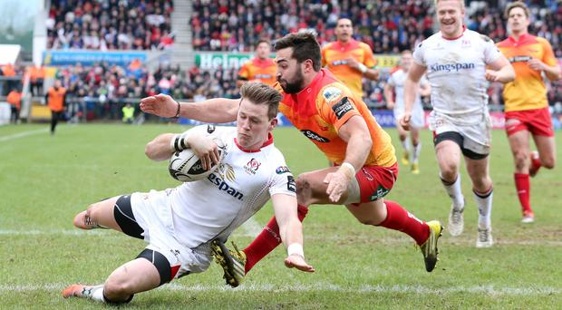 Back in action: Craig Gilroy returns for Ulster tonight after recovering from a gashed knee