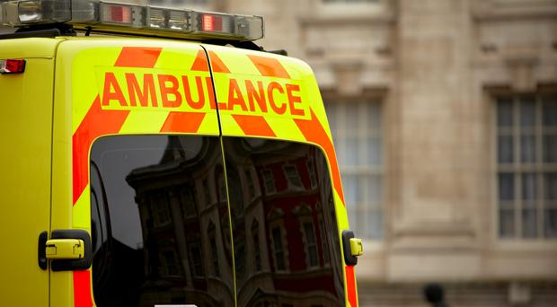 An ambulance paramedic was yesterday badly bitten by a patient he was trying to assist