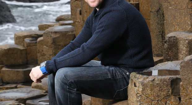 Sitting pretty: Alastair Seeley at the Giant's Causeway
