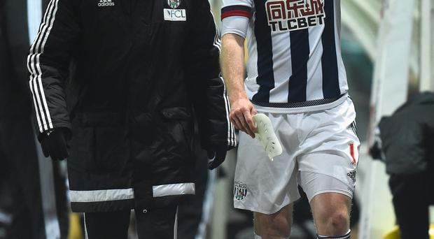 Awful timing: Chris Brunt underwent surgery on Thursday after being ruled out of the Euro 2016 finals in France
