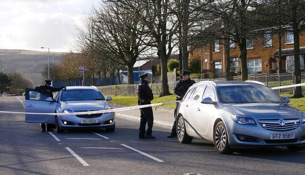 Police and ATO at the scene of a security alert in the Glen Road / Glen Colin Drive area of West Belfast on March 05, 2016 Belfast, Northern Ireland ( Photo by Kevin Scott / Presseye)