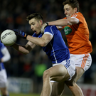 Man on: Cavan's David Givney battles with Charlie Vernon