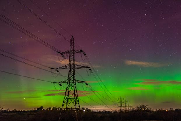 The Northern Lights or Aurora Borealis pictured over Northern Ireland, by Jason Murphy in Dundrod