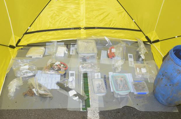 Explosives and bomb making parts found at Carnfunnock Country Park
