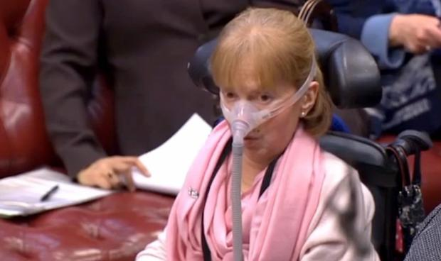 Baroness Campbell, a former Commissioner of the Disability Rights Commission who herself uses a ventilator, told the House of Lords that 'words failed me'
