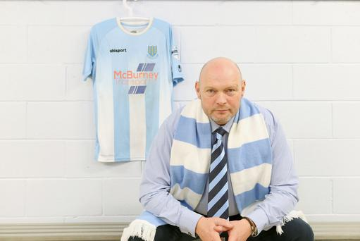 New colours: David Jeffrey has swapped royal blue for sky blue as he gets to grips with his new surroundings at the Ballymena