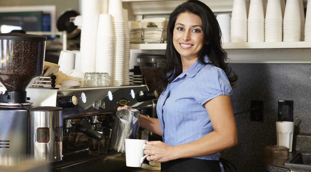 Coffee shops are one of Northern Ireland's areas of growth in the services sector