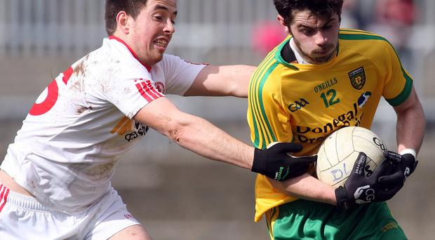 Red-hot form: Ronan O'Neill (left) has been a major influence for Tyrone since returning from his injury nightmare