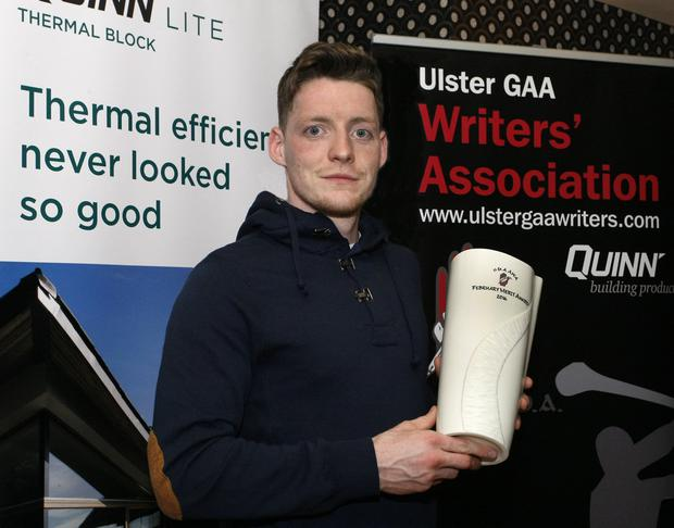 Top man: Conor McManus with his Ulster GAA Writers' trophy