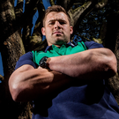 High performance: CJ Stander at Ireland's training base Carton House, Kildare yesterday