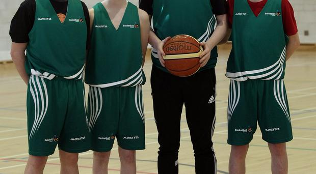 Talent: CJ Fulton (second from left) with fellow Ireland under-15 stars Jack Summergill, Conor Cooke and Conor Ryan