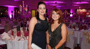 Nadine Savage and Danielle Delahunt pictured at The Chartered Accountants Ulster Society Annual Dinner in the Culloden Hotel, Belfast. Picture by Kelvin Boyes / Press Eye.