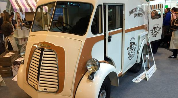 The Morris Commercial J-Type delivery van rebuilt with bodywork retrieved from a Stoke-on-Trent salvage yard has gone on show at Crufts - after its owner ignored calls to scrap it.