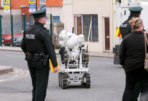 Pictured is the scene of a security alert on Cathedral Road in Armagh on March 13, 2016 Armagh, Northern Ireland (Photo by Kevin Scott / Presseye)