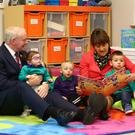 Arlene Foster and Martin McGuinness at Mencap Centre in Belfast