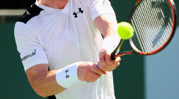 Net loss: Andy Murray on his way to a surprise defeat
