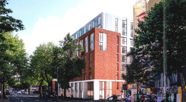 What the 156-bedroom student development on the Dublin Road could look like