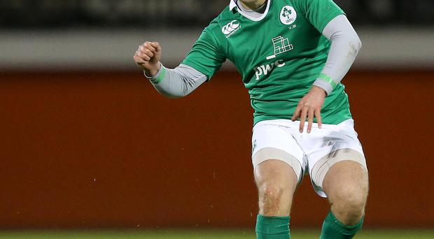 Setting his sights high: Ulsterman Johnny McPhillips is keen to put in a solid display for Nigel Carolan's Ireland U20s