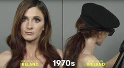 Controversial '100 years of Irish beauty' video includes a model wielding a machine gun