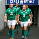 Main man: Rory Best will lead out the Ireland side in his 50th consecutive game in the championship