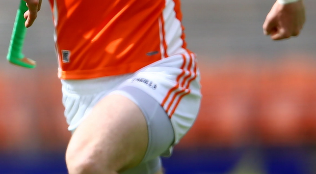 Lead man: Declan Coulter was on form for Armagh