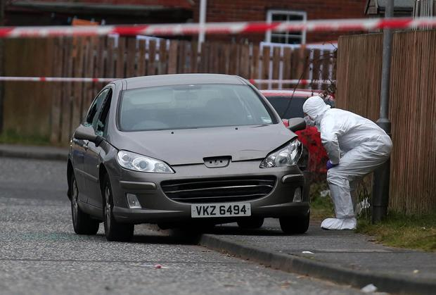 Scene of shooting at St Brendan's Primary School in Craigavon, Co Armagh. Photo by Kelvin Boyes / Press Eye.