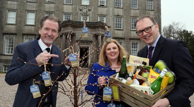 Chef and local food ambassador Paul Rankin (left), Sharon Machala from Food NI and Roger Wilson, Armagh City, Banbridge and Craigavon Borough Council chief executive