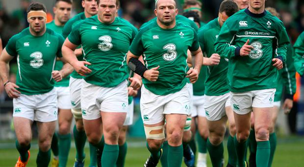 Ultimate goal: Rory Best (centre) could earn a second tour with the British and Irish Lions