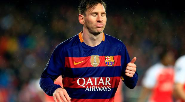 Barcelona's Argentinian forward Lionel Messi will play at the Aviva Stadium. Pic: Getty Images