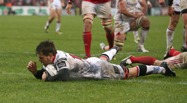 Raring to go: Louis Ludik can't wait to make his Ulster return against Glasgow at Scotstoun on Friday