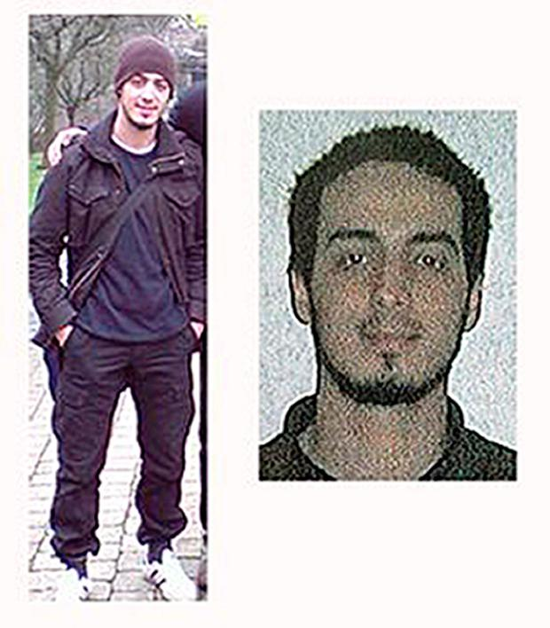 Photos issued by the Belgian Federal Police of Najim Laachraoui, who according to local media is thought to be connected with the Brussels attacks, and who is believed to be on the run. Belgian Federal Police/PA Wire