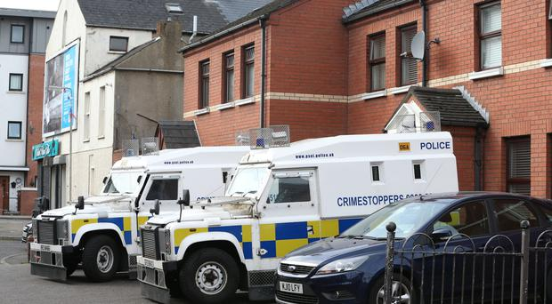 Armed police attended a house in the Castlereagh Street area of east Belfast. Police have said they are attending a search at a house in Frank Street. Press Eye Matt Mackey