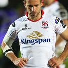 Dejected: Paul Marshall shows his disgust after Ulster's 27-17 defeat to Glasgow last night