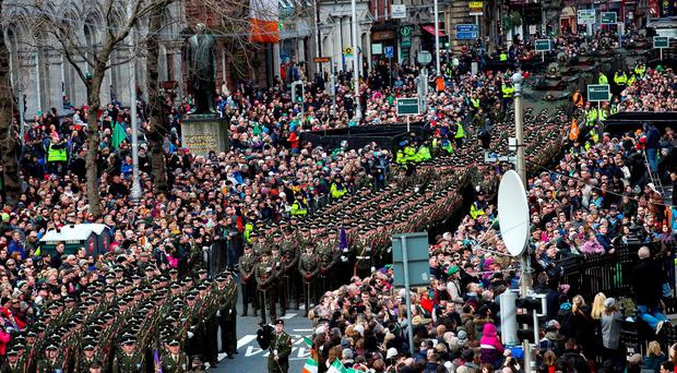 Easter Rising centenary commemorations in Dublin. Photo credit: Maxwells/PA Wire