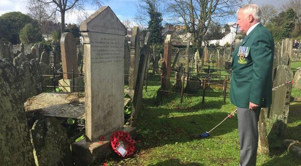 The Royal British Legion laid a wreath on the grave of Sandy McClelland, a teenage British soldier who died in the Dublin rebellion