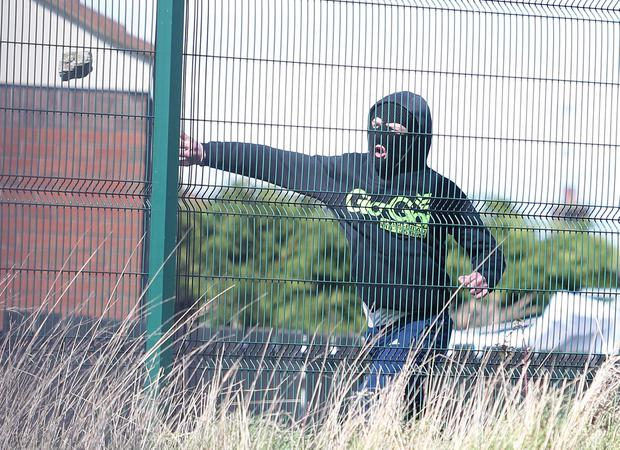 Trouble starts in Lake Street area of Lurgan. Picture by Jonathan Porter/PressEye