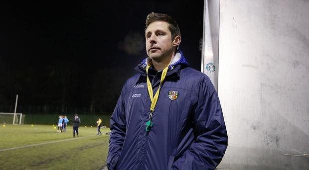 On a roll: Antrim joint manager Gearoid Adams is determined to keep good run going